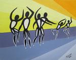 """Tanz"",Acryl auf Karton,23x29,2014"