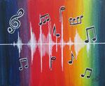 """""""Musik"""",Acryl auf Karton,23x29,2014"""