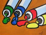 """""""Malerei"""",Acryl auf Karton,23x29,2014"""