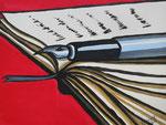 """Literatur"",Acryl auf Karton,23x29,2014"