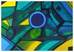 Colourfields, Abstrakt 13, Acryl, 34x48, 2020
