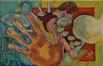 Hand und Fuß · 2013, Acryl, Öl auf Nessel, 20 x 30 cm