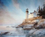 Aquarell Lighthouse von Johannes Vloothuis (c) 2012