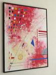 voie de l'art. vue côté 1. tableau. abstrait. abstraction