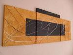 bille en or, tableau abstrait. abstraction