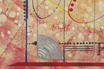 vers le bonheur. zoom 2. tableau. abstrait. abstraction