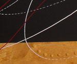 bille en or - zoom1, tableau abstrait. abstraction