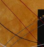 bille en or - zoom3, tableau abstrait. abstraction