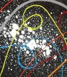 maçonnique vue zoom3, tableau abstrait. abstraction