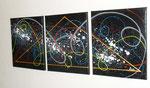 maçonnique vue côté1, tableau abstrait. abstraction
