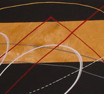 bille en or - zoom2, tableau abstrait. abstraction