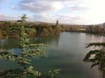 Le lac au centre de la propriété