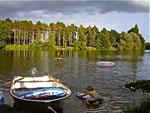 Baignade, barque, canoé