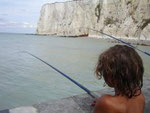 Pêche sur la jetée de Mers les Bains