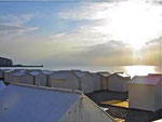 Cabines de plage à Mers les Bains