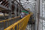 Rundgang auf dem 11'000 t (Museumsbrücke nach verschiedenen Deinstallationen) schweren, ...