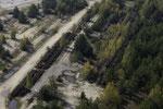 Schienenlager unter der Aussichtskanzel