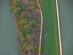 Aare und Kanal unterhalb Kläranlage Winznau