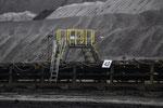 """Bandübergang. ca. 36'000 t Braunkohle pro Tag gelangen zum Kraftwerk """"Schwarze Pumpe"""" mit einer Leistung von 2 x 800 MW (KKW Gösgen 1060 MW)"""