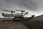 Eimerkettenbagger Es 3750-1308 ehemals Tagebau Klettwitz-Nord, 1994 Überfuhr en bloc nach Welzow-Süd