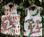 Schürzenkleid / Geburtstagskleid mit Raupe Nimmersatt Stoff