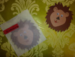 Löweneinladungen zum 2. Gebrutstag mit Backpapierhülle