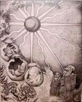 """Ritual (2001). Graphite on paper, 24"""" x 36"""".  Nicole Harper ©"""