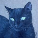 """""""Chat noir"""" - acrylique - 20 x 20 cm"""