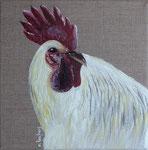 """""""Coq"""" - acrylique - 20 x 20 cm"""