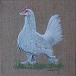 """""""Poulette"""" - acrylique - 20 x 20 cm"""