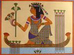 Ägypterin, sitzend, 36x46