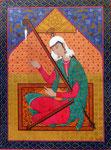 Perserin mit Harfe, 36x46