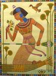 Ägypterin halb sitzend, 36x46