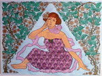 Art Deco, Dame, 36x46