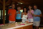 ONDAMED's 10 jähriges Jubilaeum, Georgia, USA, von rechts: ROLF BINDER (ERFINDER), KARIN VAN HUELSEN, HP, SILVIA BINDER (CEO ONDAMED), ANTJE KESSLER (KINESIOLOGIE INSTRUKTOR und ELEKTROAKUPUNKTUR EXPERTIN), DR. WOLF-DIETER KESSLER