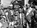 昭和36年頃鳥越祭り 当時は本祭りと陰祭りがあったそうです。