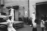 昭和30年ごろ 東三筋町会会館前 ラジオ体操