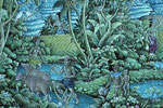 Gemälde - Arbeit in den Reisfeldern