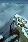Punta Giordani 4046 m von der Vincentpyramide 4215 m
