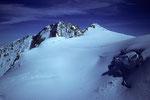 Blick von der Parrotspitze  zur Dufourspitze 4634m und Zumsteinspitze 4563m