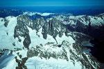 Aiguilles von Chamonix von der Pointe  Whymper  4184m