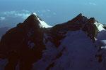 Wetterhorn 3701 m und  Mittelhorn 3704 m - Tele -