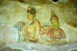 Sigiriya - Fresken der Wolkenmädchen  I