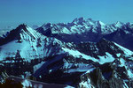 La Grivola 3969 m im Hintergrund Grand Combin 4314m - Tele -