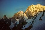 Mont Blanc 4807m  mit Peuterey - Grat