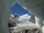 Castor im Eisrahmen auf der Monte Rosa-Hüttentour.