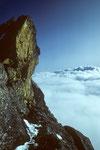 Beim Abstieg auf dem Grat