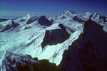 Die hohen Walliser mit Alphubel 4206 m im Zentrum