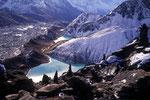 Gokyo Seen und Ngozumpa Gletscher