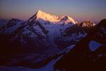 Weisshorn 4505 m im Morgenlicht